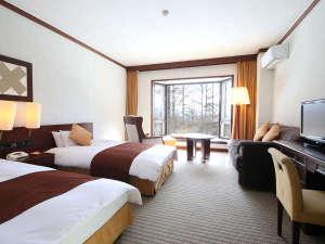 蓼科東急ホテル:自慢のプライベートガーデンを望める【ガーデン眺望ツイン】