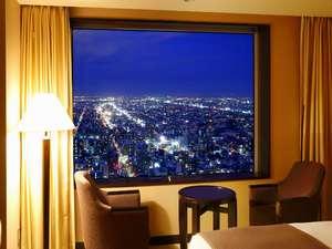 札幌の夜景を楽しめる客室