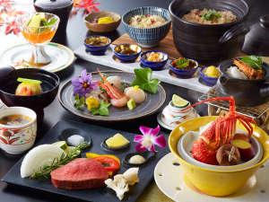 最上級会席【御食国】たくさんの食材を使った最上級会席です。