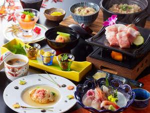 一番人気の基本会席【海風】海の幸・山の幸をふんだんに使った会席料理です。