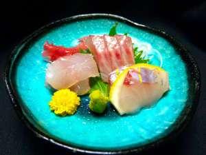 箱根強羅温泉 にごり湯の宿 桐谷箱根荘:※沼津港からの地の魚を中心にしたお造り。