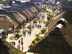 【大内宿】福島県で大人気の観光地。時代をタイムスリップしたかのような雰囲気を楽しめます。