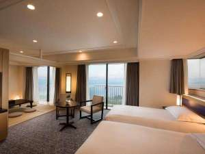 ヒルトン小田原リゾート&スパ:*7階~11階に位置するコーナー和洋室(定員6名)。
