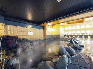 奈良の温泉付ホテル 橿原ロイヤルホテル:【岩風呂】落ち着いたお風呂で、のんびり旅の情緒を♪(ひのき風呂との日替わり制です)25時まで営業♪