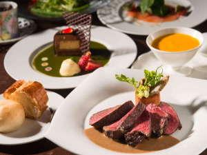 奈良の温泉付ホテル 橿原ロイヤルホテル:肉も別腹!300gステーキをフレンチコースでお楽しみください。(写真はイメージです。)