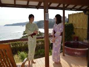 海一望の宿 伊豆下田温泉 下田大和館:波の音も聞こえる。。。露天風呂付客室でゆっくり