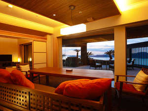 ホテルニューアワジ プラザ淡路島:あなただけの専有露天風呂とテラスを有する特別客室【別邸 蒼空<天空>】※画像はTypeAとなります