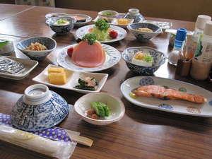 榛名湖畔 甲子亭(きのえねてい)別館:朝食の一例