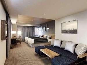 横浜国際ホテル(12/1~ホテル・ザ・ノットヨコハマにリブランド):【ラージツインルーム】2017年3月6日リニューアルフロア・オープン!広さ30㎡ベッドサイズ 120cm