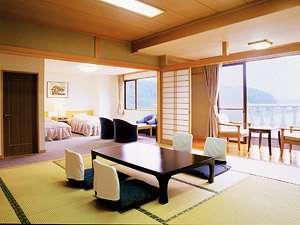 足和田ホテル:【ジュニアスイート・和洋室】上層階限定の特別なお部屋