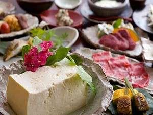 やまと旅館 新館:【創作豆富料理】「豆腐」ではなく「豆富」。やまと旅館こだわりの豆富料理をお愉しみ下さい/例