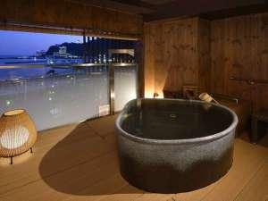 熱海シーサイド・スパ&リゾート:貸切風呂(お宮の湯)。バリアフリーにも配慮しています。