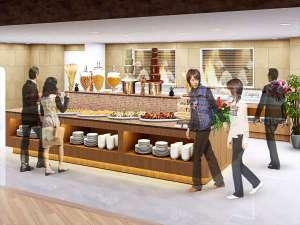 熱海シーサイド・スパ&リゾート:新レストラン(ビュッフェボード&ライブキッチンスペース)*画像はイメージです。