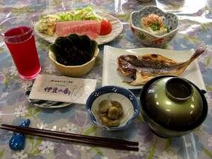 温泉民宿 赤沢荘:朝食