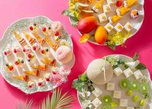 ホテルニューオータニ大阪:今年7月1日からはスイーツビュッフェも夏仕様!ピーチ、メロン、マンゴーの季節です。