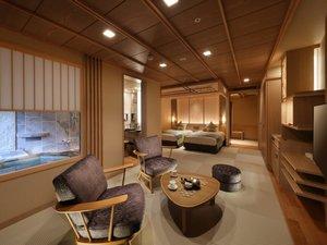 鬼怒川温泉 あさや:◆2017年7月リニューアル★秀峰館最上階眺望風呂付和洋室「雅」