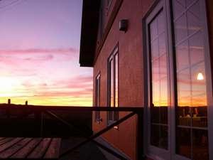 なよろサンピラーユースホステル:宿から見る夕日は絶景