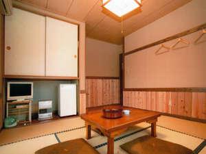 こはく湯の宿 中鉢:お部屋は全室和室。到着前に布団もひいておきますので、すぐにひと休みいただけます(例)