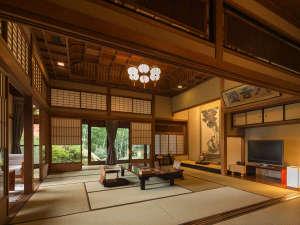 「別邸内庫所」は第11代佐賀藩主鍋島直大公の別邸として建てられたものです。『貴賓室』無料wifi有り