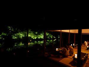 夏の茶屋バー。御船山楽園内にある宿泊者専用のBar。通年営業(月曜定休)23:30まで