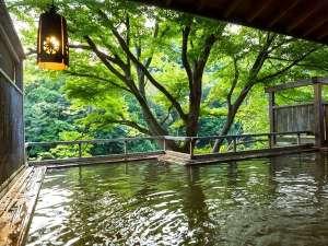 湯の風 HAZU:*渓谷一望の露天風呂「落ち葉の湯」