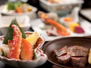 ルスツリゾートホテル&コンベンション:【夕食】こだわりの北海道素材。 海・山ともに近い立地、ルスツの美味しいをお届け。