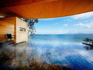 【インフィニティ露天風呂】移り変わる海と空を眺めながらのんびりとリラックス♪(男性風呂限定)