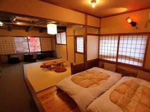 谷旅館:居間・寝室分離の新和洋室(Bタイプ特別室)