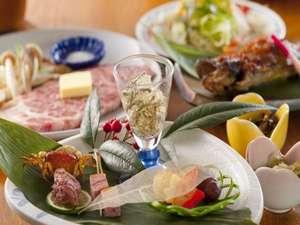 白川郷の湯:【夕食】温泉のあとは、おまちかねの夕食を(一例)