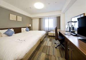ダイワロイネットホテル仙台:【デラックスツイン】122cmのベッドが2台くっついているのでお子様の添い寝も安心♪