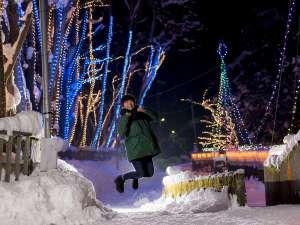 【冬】横手市浅舞地区『槻の木 光のファンタジー』