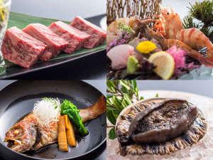 1日7組限定 全室絶景露天風呂の大人宿 夕彩Resort響季:和牛、海老、のどぐろ、黒あわび旬の美味をご堪能ください