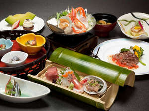 九十九里海岸 一宮温泉 ホテル一宮シーサイドオーツカ:*夕食一例/彩り鮮やかな房総の海の幸をお楽しみください。