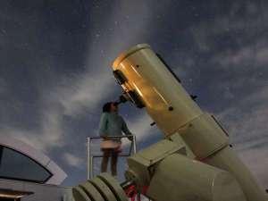 清和高原天文台 清和高原の宿:天体観測の風景
