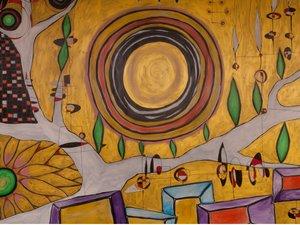 館内には県内在住アーティストを中心としたアート作品が多数ございます