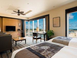 リーガロイヤルグラン沖縄:客室最上階13階グランスイート(52平米)客室一例
