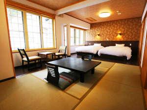 源泉かけ流しの宿 中島屋旅館 :2016年12月新設 【和洋室】ゆったりセミダブルベッド+和室6畳