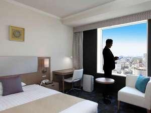 渋谷エクセルホテル東急:渋谷らしい部屋にしようとこだわったビューフロア。(写真はビューシングル)