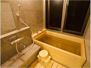 木の香り漂う美人の湯 フォンタナの丘かもう:全客室に源泉掛け流しひのき風呂がございます。