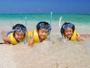 【ナガンヌ島】お子様も大喜び♪大人向けの本格的なマリンスポーツもご用意!