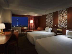東武ホテルレバント東京:スタンダードツイン(スカイツリービュー)