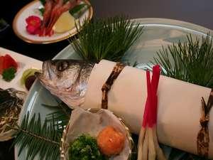 松江の郷土料理「スズキの奉書焼き」。ヘルシーさも人気の秘密☆