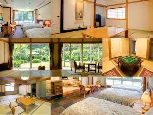 フォレストリゾート ゆがわら万葉荘:バリエーション豊富なお部屋