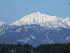 せきがね温泉 湯楽里:窓から見える大山