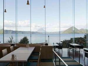 ザ レイクビュー TOYA 乃の風リゾート :【ビュッフェレストラン】洞爺湖はもちろん、中島・羊蹄山も一望出来ます。