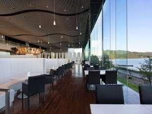 ザ レイクビュー TOYA 乃の風リゾート :【レストラン】開けたとても景観の良いお食事会場。