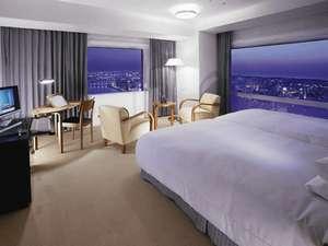 ホテル日航新潟:ラグジュアリーツイン夜景(38平米、ベッド幅120cm×2台)【一例】