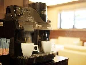 ホテルサンプラザ倉敷:ロビーでは挽きたてコーヒーが無料で楽しめます!チェックイン、アウト時やお待ち合せにどうぞ!
