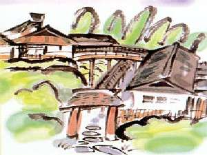 【イラスト】竹の倉山荘外観イメージ。