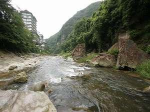 渓谷から見る吉川屋